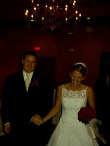 Marc and Katie being announced at their reception.
