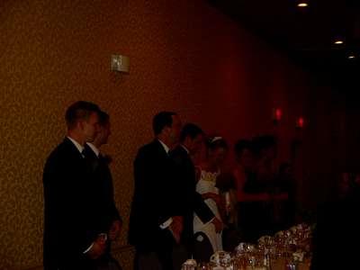 Bridal table at the reception.