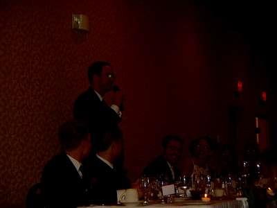 Craig during his toast.