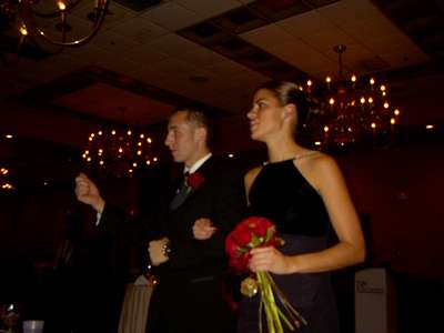 Tony and Sarah walking into the reception at my brother Marc's wedding.