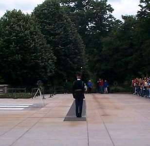 The Changing of the Guard at the Tomb of the Unknown Soldier (7 of 7)