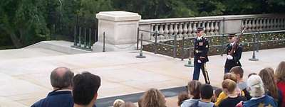 The Changing of the Guard at the Tomb of the Unknown Soldier (2 of 7)