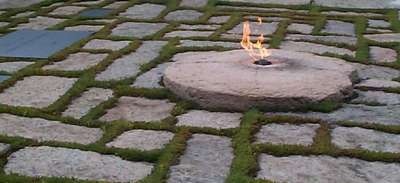 Another of the Flame at the JFK Memorial