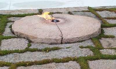 The Eternal Flame at JFK Memorial