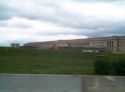 The only shot of the Pentagon we could get.