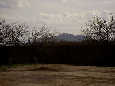 View of the mountains from our future home.