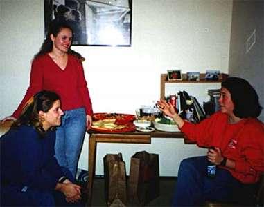 Girls chit-chatting