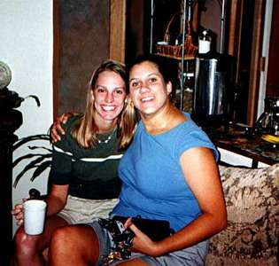 Feeling relaxed after massages - Bachelorette Party, July 15, 2000