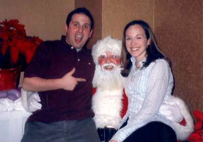 December 2003 Dan and Me with Santa--Christmas party (Sterling)