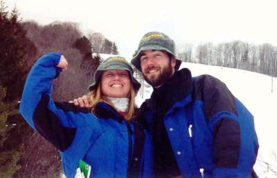 St Patricks Day Skiing -Snow Ridge 2001
