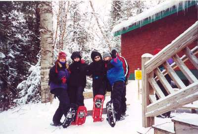 Snowshoeing Adk Nature Center 2001