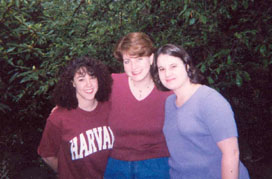 Michelle, Diane, and Melissa - also at whitewater rafting in PA, but off the river!