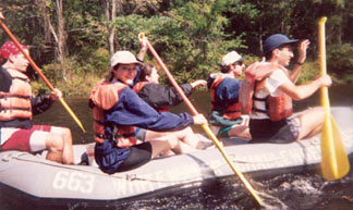Whitewater rafting in PA