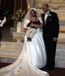 Diane and Paul's wedding (with little Peter) in May 2002