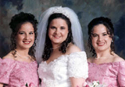 Laurie and Anthony's wedding in June 1995