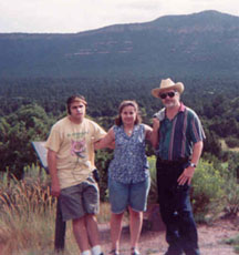 Chris, Melissa, and Dad in New Mexico