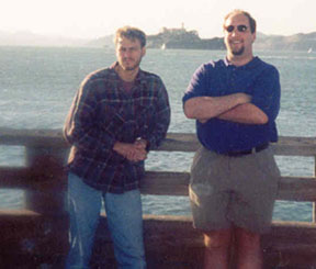 Dave and Bill and Alcatraz-from SF Bay