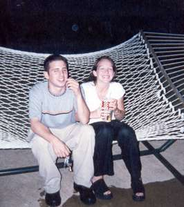 July 1999   At a friend's house, hanging by the pool, on a hammock.