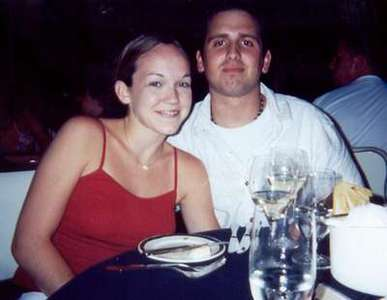 July 2000  Dinner on the Disney Wonder.