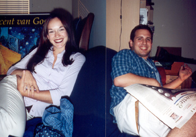 September 2001 Opposite sides of the couch...