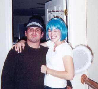 October 2000  Halloween Night--before going to deejay at Georgetown Station.