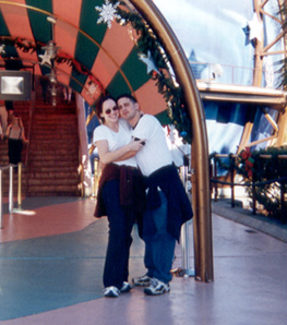 December 1999  Outside of Planet Hollywood at Disneyworld.
