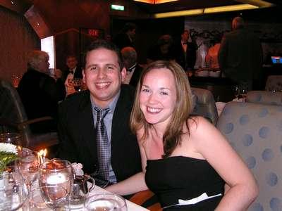 January 5, 2004 Dan and I at dinner