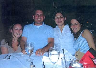 Sept. 22, 2004 Ruth's Chris with me, Dan, Jess, and Elisa