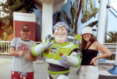Sept 2004 At Epcot, we ran into Buzz Lightyear