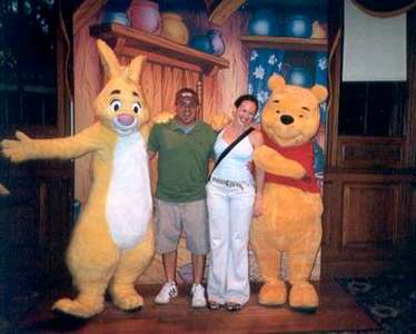 Sept. 2004 Later that day, we ran into Winnie the Pooh (my favorite!!) and Rabbit