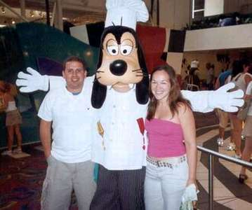 Dan and I with Goofy