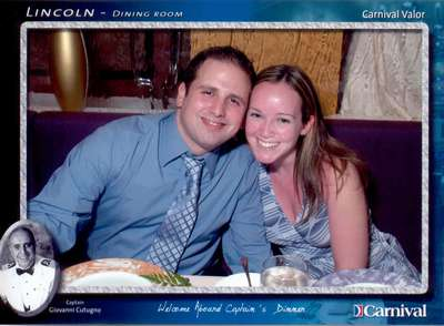 First formal night in the Lincoln dining room on the Carnival Valor