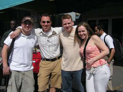 Feb. 6, 2005 Before getting on the Valor in Miami, FL...with Dan, Josh, Jim, and Steph
