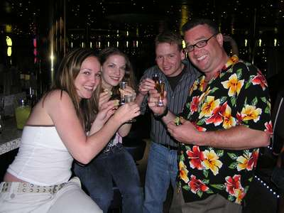Feb. 11, 2005 Shots at One Small Step!  (Steph, Judy, Jim, and Spud)