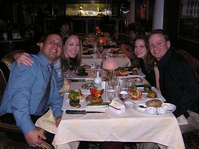 Feb 12, 2005 Dinner at Scarlett's on the Valor (Dan, Steph, Judy, and Jim)