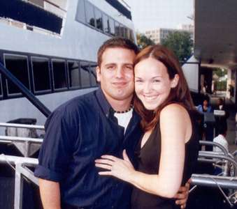 July 2002 Dan and Steph before the dinner cruise--on the Spirit of Washington, DC.