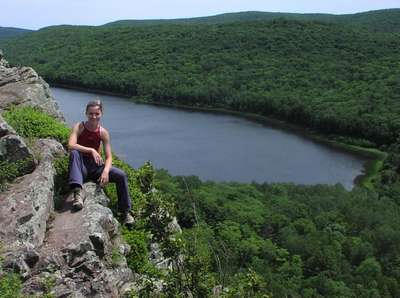 Too close to the edge at Lake of the Clouds