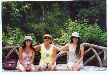 The bride, her mom, and sister at Animal Kingdom in Orlando, FL