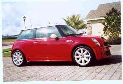 Ben's other pride and joy - his BMW Mini Cooper S