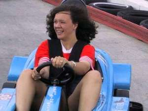 This is probably the only time you will see Lori in a Go Cart!