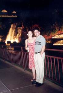 May 2001 Dan and I outside of the Mirage