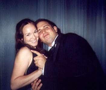 September 2002 Dancing at Robin's wedding