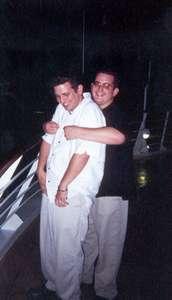 July 2000 Dan and Adam on the Disney Cruise...a hug?