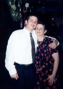 December 1999 Dan and his Mom at the holiday party at Maggiano's, Chevy Chase.