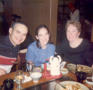 January 1999 Me out with my Mom and Dad for my 21st!