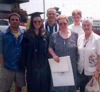 May 2000 VA Tech graduation with the family.