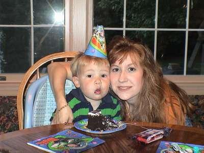 Matthew, my nephew and My sister, Stephanie
