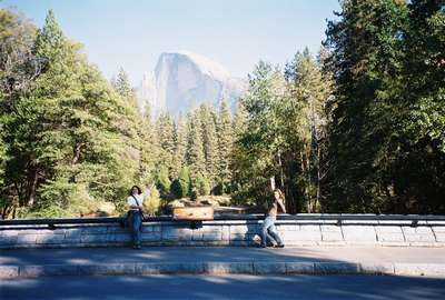 Half Dome and half gone