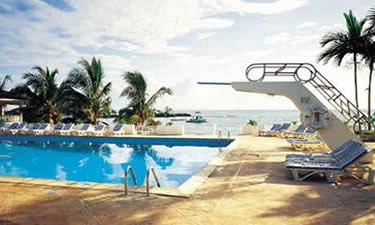 This is a picture of our pool. Later pictures capture the elegant pool party that we attended.