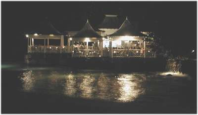 This is a picture of the Bayside Restaurant at night. Isn't it romantic? Actually, this is where Greg and I dined on our first evening at Couples.